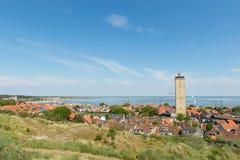 Dorp westen-Terschelling in Nederland Stock Foto's