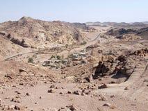 Dorp in woestijn Stock Fotografie