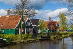 Dorp Zaanse Schans in Nederland Royalty-vrije Stock Foto