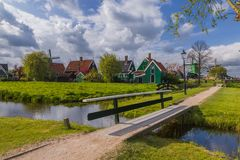 Dorp Zaanse Schans in Nederland Royalty-vrije Stock Foto's