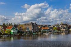 Dorp Zaanse Schans in Nederland Royalty-vrije Stock Afbeeldingen
