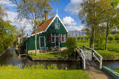 Dorp Zaanse Schans in Nederland Stock Afbeeldingen