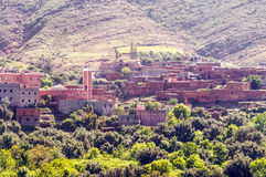 Dorp in zuidelijk Marokko Royalty-vrije Stock Afbeeldingen