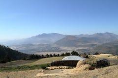 Dorpen en landbouwbedrijven in Ethiopië royalty-vrije stock foto's