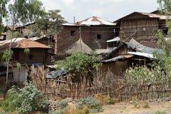 Dorpen en landbouwbedrijven in Ethiopië royalty-vrije stock afbeelding
