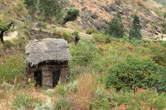 Dorpen en landbouwbedrijven in Ethiopië stock foto's