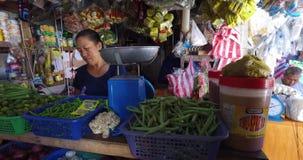 Dorps Aziatische markt stock video