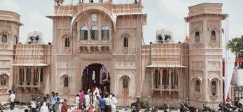 Dorpsbewoner Hindoese Poh Dham stock fotografie