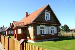 Dorpshuis in traditionele stijl Royalty-vrije Stock Fotografie