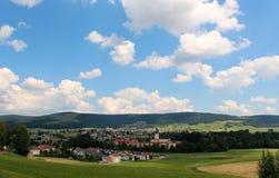 Dorpslandschap Oostenrijk Stock Fotografie