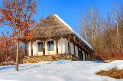 Dorpsmuseum, Baia-Merrie - Roemenië stock afbeeldingen