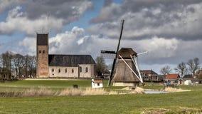 Dorpsscène Nederland Royalty-vrije Stock Foto