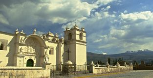 Dorpsscène in Peru Stock Fotografie