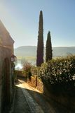 Dorpssteeg in de Dordogne-Vallei Stock Foto's