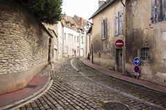 Dorpsstraat in Frankrijk Royalty-vrije Stock Foto