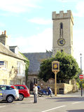 Dorpsteken en kerk, Yarmouth, het Eiland Wight. Royalty-vrije Stock Foto's