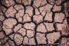 Dorre grond, het tekort van het seizoenwater royalty-vrije stock afbeelding