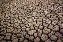 Dorre grond, het tekort van het seizoenwater royalty-vrije stock fotografie