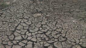 Dorre grond na droogte stock videobeelden