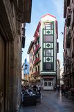 Dorre Kalea street in Bilbao, Spain in Europe stock photography