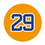Dorsalna liczba 29 Zdjęcie Stock