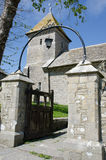 Dorset church with gate. In foreground Stock Photography
