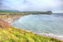 Dorset coast Kimmeridge Bay east of Lulworth Cove uk towards Clavell Tower Stock Photography