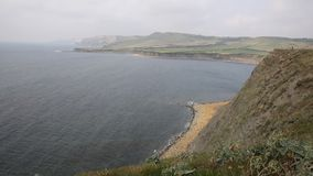 Dorset coast Kimmeridge Bay near Lulworth Cove England uk stock footage