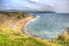 Dorset coast Kimmeridge Bay near Lulworth Cove uk towards Clavell Tower Stock Image