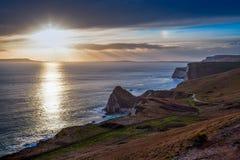 Dorset Coast Sunset Stock Images