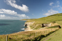 Dorset coastal path. Dancing Ledge Stock Image
