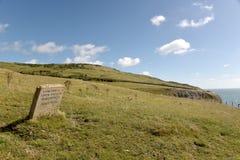 Dorset coastal path. Dancing Ledge Stock Photos