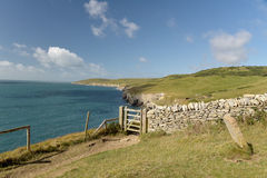Dorset coastal path. Dancing Ledge Stock Photography