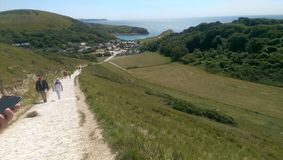 Dorset coastal path view Stock Photos