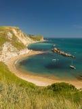 Dorset Coastline on a hot summer day Stock Images