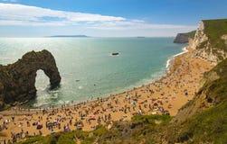 Dorset Coastline on a hot summer day Royalty Free Stock Photo