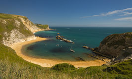 Dorset Coastline on a hot summer day Royalty Free Stock Photography