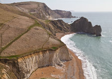 Dorset coastline looking down on Durdle Door Stock Photography