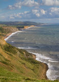 Dorset coastline looking towards West Bay Royalty Free Stock Photos