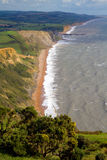 Dorset coastline view of West Bay and Chesil beach Royalty Free Stock Photography