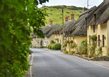 Dorset Cottages. A row of beautiful cottages in Lulworth Dorset royalty free stock image