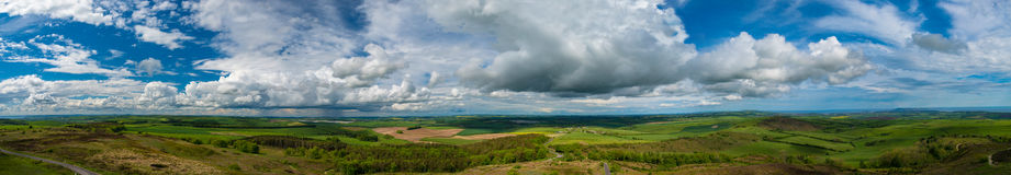 Dorset countryside overlooking Portland and the Fleet Stock Image
