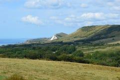 Dorset fält och kust- sikter Royaltyfri Foto