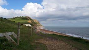 Dorset falezy, widok w słonecznym dniu Obraz Stock