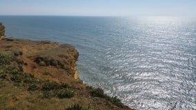 Dorset falezy, widok w słonecznym dniu Fotografia Royalty Free