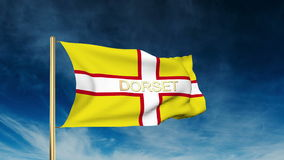 Dorset flag slider style with title. Waving in the stock footage