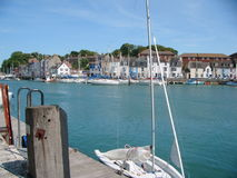 Dorset Harbor. Little town harbor from the south of England Royalty Free Stock Photo