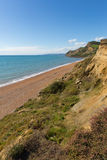 Dorset Jurassic coast view Eype England uk south of Bridport and near West Bay Stock Photography