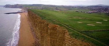 Dorset Jurassic coast West Bay. Cliff, vacation royalty free stock images