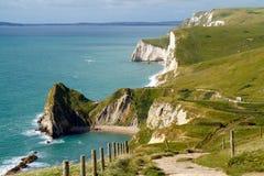 Dorset-Küstenlinie Durdle Tür Stockbild